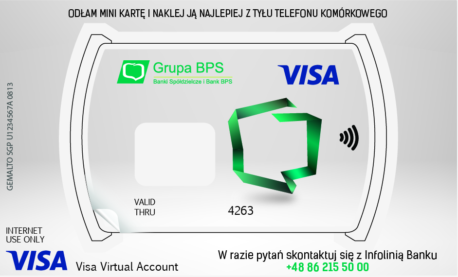 Naklejka zbliżeniowa Visa PayWave